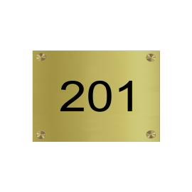 Numéros de maison laiton