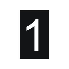 Plaque numéro 1