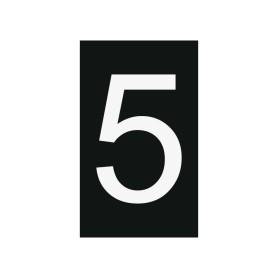Plaque numéro 5