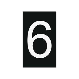 Plaque numéro 6