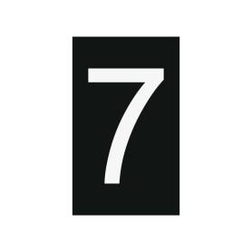 Plaque numéro 7