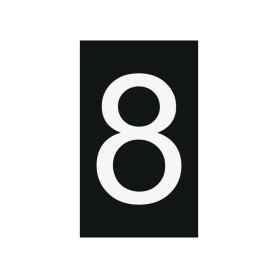 Plaque numéro 8