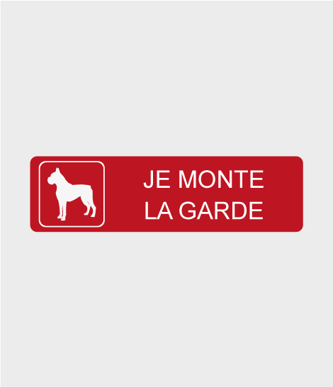 "Panneau ""Attention au chien"""