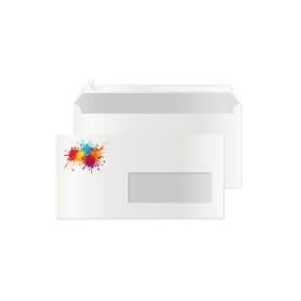 Enveloppes DL couleur avec fenêtre par 100