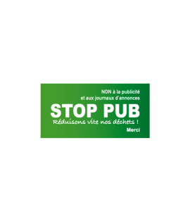 Stickers STOP PUB Rectangle