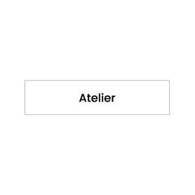 Plaque signalétique gravée Atelier