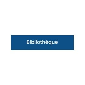 Plaque signalétique Bibliothèque