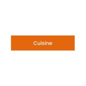 Plaque signalétique gravée Cuisine