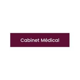 Plaque signalétique Cabinet médical