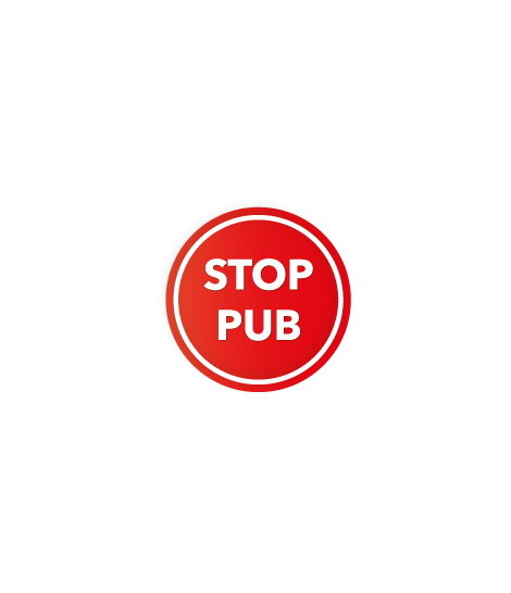 Stickers rond STOP PUB
