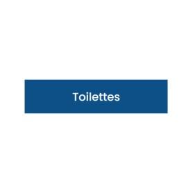 Plaque signalétique gravée Toilettes