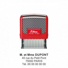 Tampon adresse 4 lignes Shiny 47x18 mm
