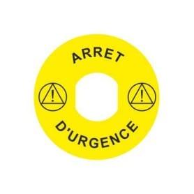 """Étiquette """"ARRÊT D'URGENCE"""" Ø 60 mm"""