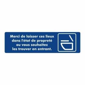 """Plaque signalétique """"Toilettes Propres"""""""