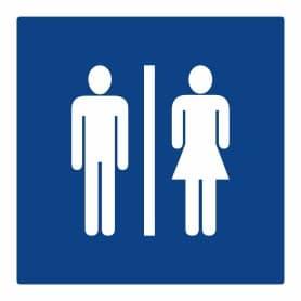 Plaque signalétique toilettes Homme-Femme