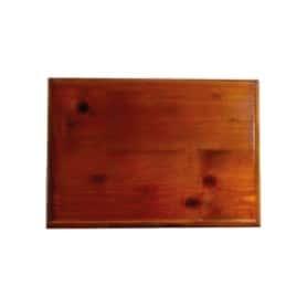 Socle bois foncé pour plaque professionnelle 30 x 20 cm