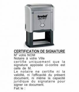 CERTIFICATION DE SIGNATURE