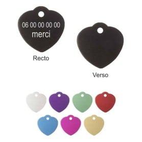 Médailles cœur grandes avec bélière