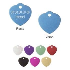 Médailles coeur petites avec bélière