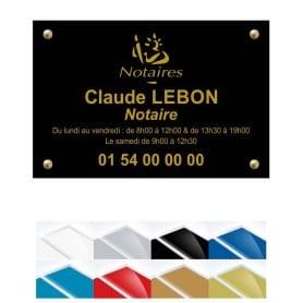 Plaque Plexiglass Logo Notaire 30x20cm