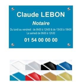 Plaque Plexiglass Notaire 30x20cm