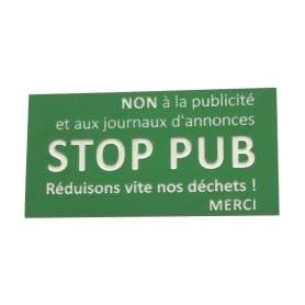 Plaque gravée STOP PUB